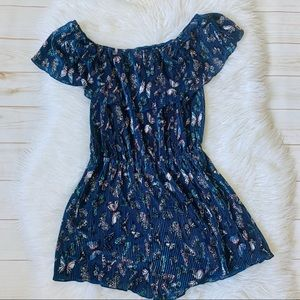 No Comment Butterfly Ruffled Romper Size Medium